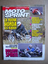 MOTOSPRINT n°19  1992     [Q21]  TEST SUZUKI GSX-R 750 - APRILIA 250 GP