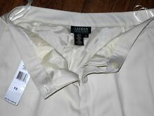 New Ralph Lauren Antique IV Regular Fit Women's Cream Dress Pants Sz 12 or 31x32