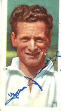 TOM FINNEY EARLY HAND SIGNED CUT DOWN COLOUR POSTCARD 68 x 35 cms
