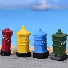Mini Garden Ornament Post Postbox Fairy Micro landscape Resin Craft Decoration