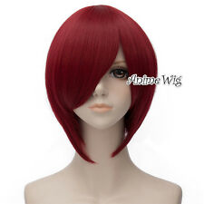 Basic Cosplay Black/Wine Red/Blue/Light Blonde 30cm Heat Resistant Women Wig