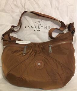 Authentic Lamarthe Paris Shoulder HandBag Brown BNWT DG106 U229