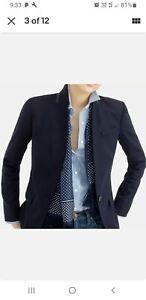 J.Crew Regent Wool Blazer, Size 4 or 8-10AU Navy Blue