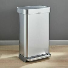 simplehuman CW2024 Stainless Steel Trash Can - Silver
