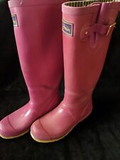 Joules Pink Ladies Wellies Size 6