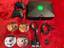 Original Microsoft Xbox w/cables, controllers, and games (Works)