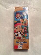 disney memory match game cards jake & the never land pirates 72 card ct
