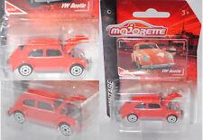 MAJORETTE 212052010 VW Beetle/Coccinelle Standard Limousine, Blutorange, vintage