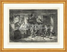 The Mitherless Bairn Thomas Faed Familie Realismus Holzstich The Empire 0092