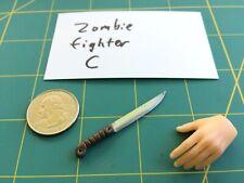 """Zombie Fighter C"" 1:6 Scale Custom Steel Miniature Knife By Auret"