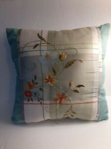 Better Homes and Gardens Embroidered Poises & Plaid Throw Pillow