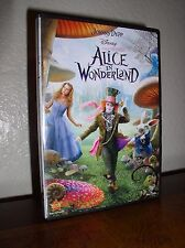 Alice in Wonderland starring Johnny Depp  (DVD, 2010)