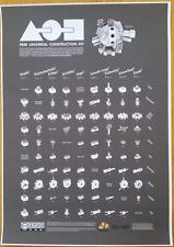 Free Universal Construction Kit Poster LEGO, K'nex, Zome, Zoob, Fischertechnik