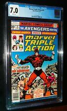 MARVEL TRIPLE ACTION #35 1977 Marvel Comics CGC 7.0 White Pages