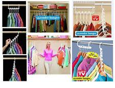 1 X Space Saver Wonder Magic Clothes Hangers Closet Organizer Hooks Racks W