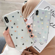 Transparent Silicone Hearts Flowers Case Cover For iPhone 11 Pro Max XS XR 8 7