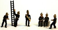 6 Victorian Edwardian Firemen F134b UNPAINTED OO Scale Langley Model Kit Figures