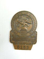 1971 Indianapolis 500 Bronze Pit Badge #6163 Damage