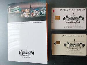 telefonkarten neu 12DM und 3 DM Schwäbische Bank im Folder Auflage 4000