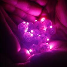 5 x Individual Pink LED Lights, Tiny, Wireless, Battery, Craft, Glow, Cake