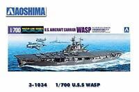Aoshima 1/700 Water Line No.715 U.S.S Aircraft Carrier WASP Model Kit(Japan Impo