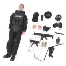 "12"" 1/6 SWAT Police Soldier Combat Suit Action Figure w/ Accessory"