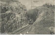 Isergebirge, Moltke-Einschnitt, Nieder-Schreiberhau, Eisenbahn, Dampflokomotive