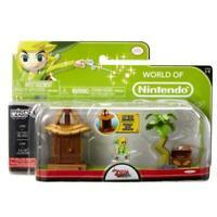 World Of Nintendo Legend of Zelda Micro Figure Playset Link Island Village Theme