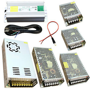 DC 12V Power Supply 5A 10A 12.5A 15A 20A 30A Adapter Waterproof IP67 Pigtail lot
