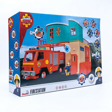 Simba Feuerwehrmann Sam Feuerwehrstation mit Figuren Firestation