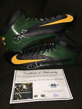 CLAY MATTHEWS PACKERS PAIR SIGNED NIKE FOOTBALL CLEATS SHOES-EXACT PROOF COA