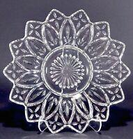 "Federal Glass Clear Petal Pattern 9 1/4"" Plate"