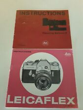 Leitz Wetzlar Camera and Lens Instructions Manuals for Leicaflex