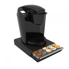 Coffee Capsules Holder Organizer 30 K Cups Drawer Rack Black Storage Pods