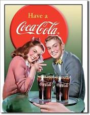 Coca Cola USA Bistro Bar Küche 50's Vintage Design Metall Deko Plakat Schild