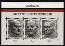 W Germany 1975 Nobel Peace Prize mini sheet SG MS1767 MNH