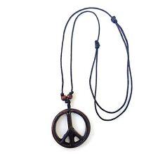 Paix Collier Corde Pendentif Unité Réglable Irie 1 Taille Compatible Avec