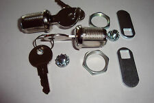 "Coin Door Locks, 7/8"" Cabinet Locks, X2, Keyed Same, Brand New! $3.51 Shipping!"