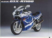 1991 SUZUKI GSXR1100 2 page Motorcycle Brochure NCS