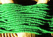 Czech Glass Seed Beads Size 11/0 Opaque GREEN  One Full Hank (53250)