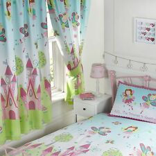 "FAIRY PRINCESS IS SLEEPING 72"" DROP LINED CURTAINS NEW WITH TIE-BACKS GIRLS KIDS"