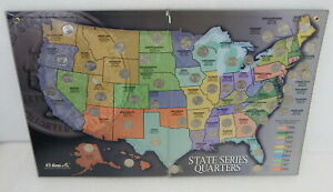 Harris 50 US State Statehood Quarters Collectors Folder Map 1999-2008