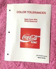 COKE STEEL CAN PROMO COLOUR TOLERANCE CHART ATLANTA U.S.A. 1990 COCA COLA