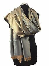 Pashmina Damen Herren Schal Stola Schultertuch Bone Hijab Kopftuch ETSV 012-2