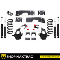 "MaxTrac 3""/5"" Drop Lowering Kit KS330935-6 Fits 1999-2006 Chevy Silverado V6 2WD"
