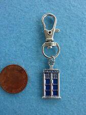 Small DR Who TARDIS Police Box Keyring Enamel Bag Charm Birthday Present # 76