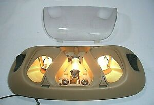 1999 95-04 98 Ford F150 250 Mustang Bronco Dome Interior Map Light Lamp Tan OEM