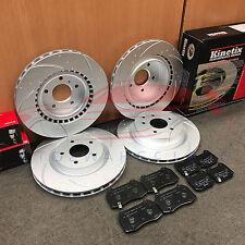 Para Nissan 350Z Infiniti G35 Delantero Trasero Discos De Freno Brembo Pastillas De Banda Embutida Acanalado