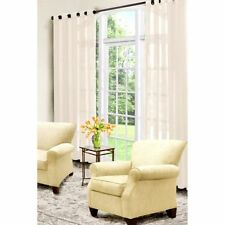 "Arm and Hammer Curtain Fresh Odor Neutralizing Sheer Curtain Panel,59x108"" Ivory"