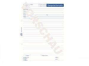 1 Gesprächsnotiz 50 Blatt AVERY Zweckform 1210 Formularbuch DIN A5 Notiz